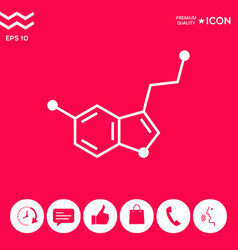 Chemical formula icon serotonin vector