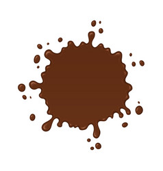 chocolate splash blot with drops vector image