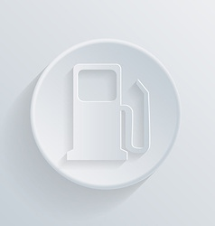 circle icon with a shadow gas station vector image
