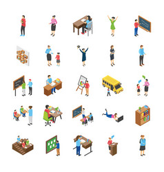 college and university students flat icons pack vector image