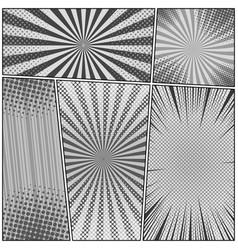 Comic gray background vector