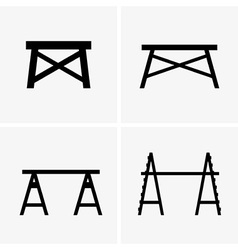 Construction trestles vector