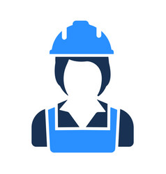 construction woman worker icon vector image