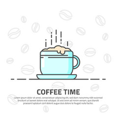 cup coffee line vector image