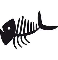 Curve Fish Skeleton vector image