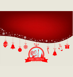 Design with silhouette of santa claus vector