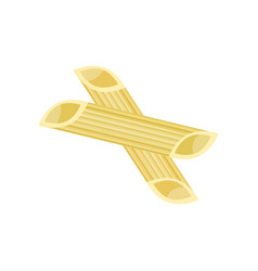 Detailed flat design pasta penne vector