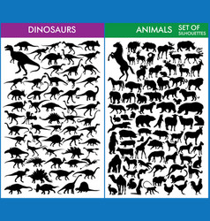 dinosaurs and animals vector image