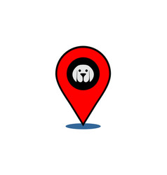 dog location logo icon vector image
