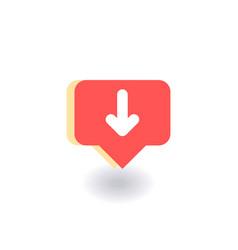 down arrow icon symbol in flat vector image