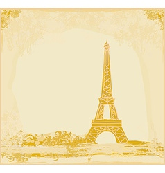 Eiffel tower artistic background vector