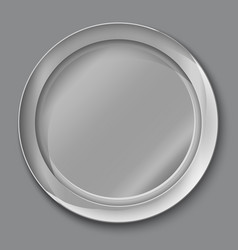 empty silver plate vector image