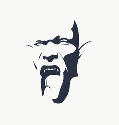Evil orc face vector