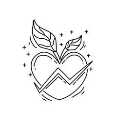 farming health icon hand drawn icon set outline vector image