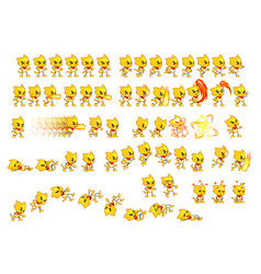 fighting cat game sprites vector image