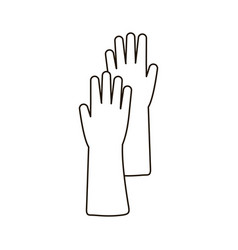 Flat icon of rubber glove vector