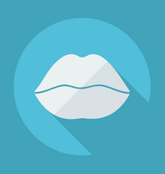 flat modern design with shadow lips vector image