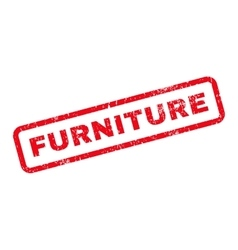 Furniture Text Rubber Stamp vector