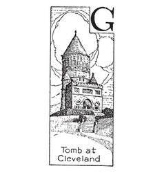 Garfields tomb vintage vector