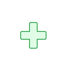 green cross hospital medical logo sign or symbol vector image