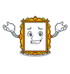 grinning picture frame character cartoon vector image