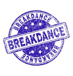 Grunge textured breakdance stamp seal vector