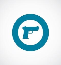 gun icon bold blue circle border vector image