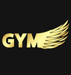 Gym and wing symbol vector