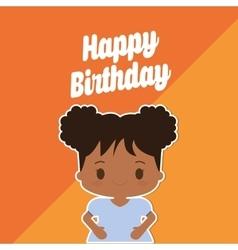Happy birthday kid cartoon vector