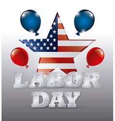Happy labor day design vector image