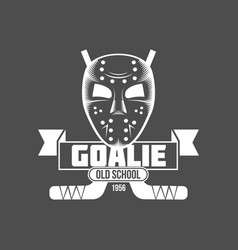 Hockey logo design vector