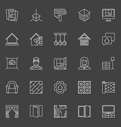 home design icons vector image