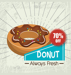 Icon donuts design isolated vector