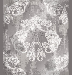 imperial baroque ornament wallpaper background vector image