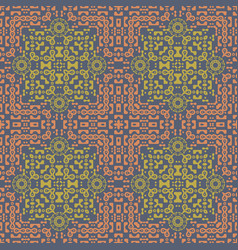 Intricate biomorphic symmetry seamless pattern vector