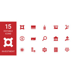 investment icons vector image