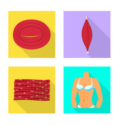 Isolated object muscle and cells icon vector