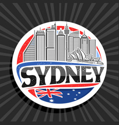 logo for sydney vector image