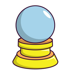 Magic crystal ball icon cartoon style vector
