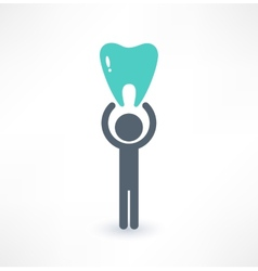 Man and tooth icon Medical concept Logo design vector image