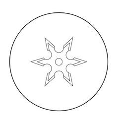 Metal shuriken icon outline single weapon icon vector