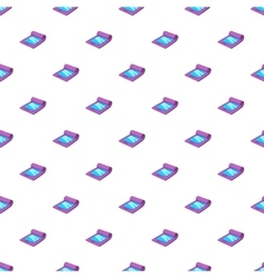 Modern flexible smartphone pattern cartoon style vector