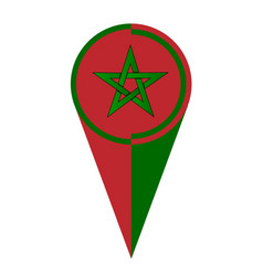 Morocco map pointer location flag vector