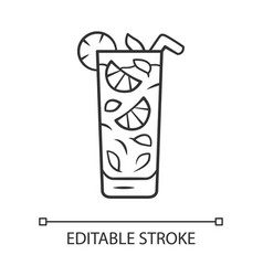 Moxito linear icon mojito cocktail in highball vector