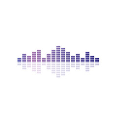 musical pulse audio equalizer technology vector image