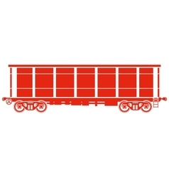 Open Railway freight car - vector