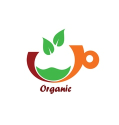 organic icon color vector image