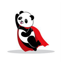 panda dressed like superhero with capes vector image