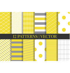 Patterns set fabric textures pattern tile vector