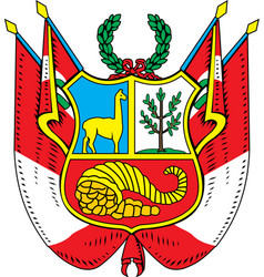 Peru Coat-of-arms vector image